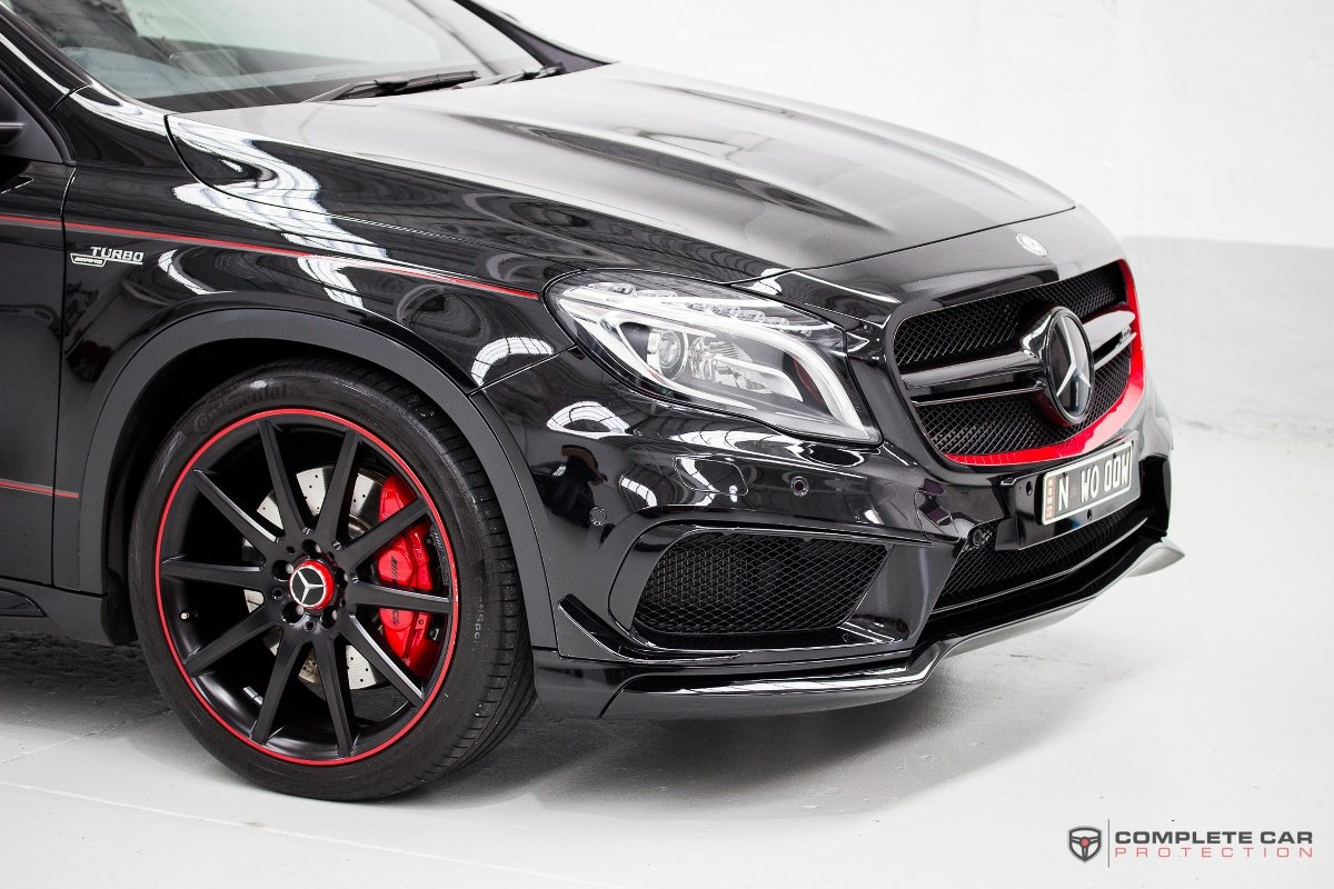 Mercedes gla45 gyeon quartz xpel ppf the ultimate for Mercedes benz paint protection package